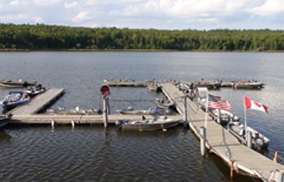 Dock overlooking Lac Seul